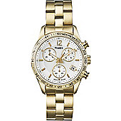 Timex Originals Ladies Gold Ion-plated Backlight, Chronograph Watch T2P058