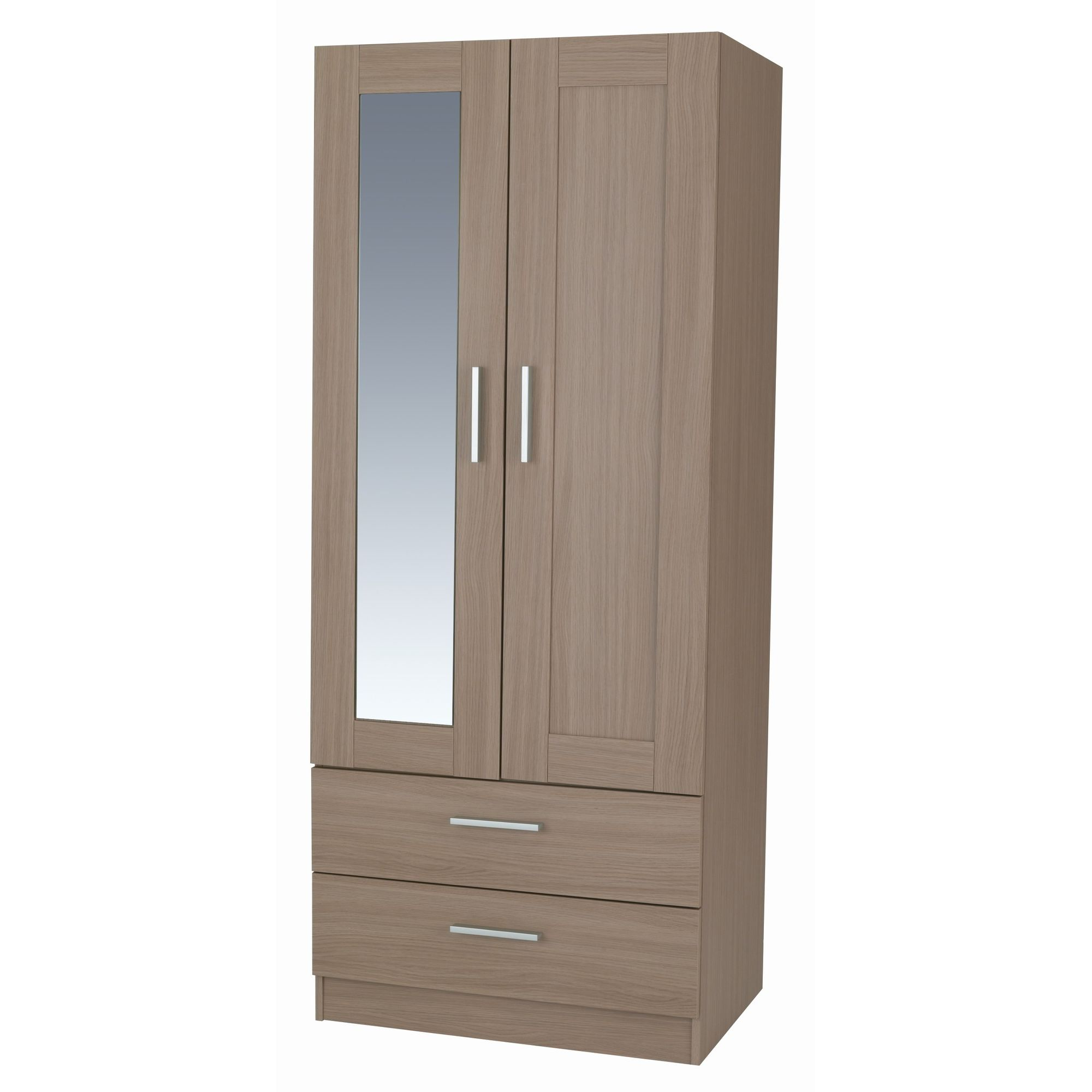 Alto Furniture Visualise Shaker Combi Two Drawer Wardrobe in Veradi Oak at Tesco Direct