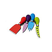 Coloured Cheese Knife Set