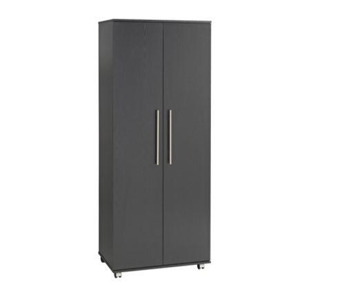 Ideal Furniture Bobby 2 Door Robe Wardrobe - Black