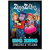 ZingZillas Black Wooden Framed ZingZilla Island Poster
