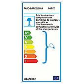 Faro Mali One Light Hanging Pendant in White - 36 cm H x 36 cm W x 36 cm D