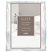 Pack of 2 Duck Feather Pillow