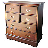 Lock stock and barrel Mahogany 4 over 2 Drawer Chest - Wax
