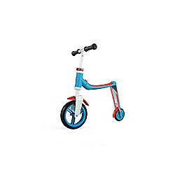 Scoot & Ride Highwaybaby 2-in-1 Scooter & Balance Bike, Blue/Red