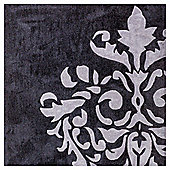 Damask Acrylic Rug 80 x 150cm, Grey