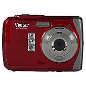 Vivitar VT426 Waterproof Camera, 12MP, 3m Waterproof, Red