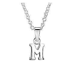Jo For Girls Silver Initial Pendant - M