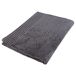 Tesco Egyptian Cotton Bath Sheet, Charcoal