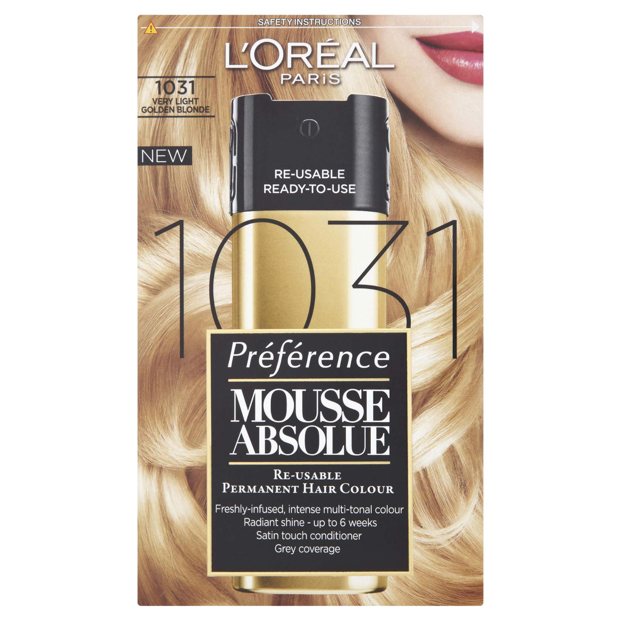 L'Oreal Mousse Absolue Very Light Gold Blonde 1031