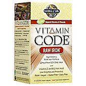 Garden Of Life Vitamin Code Raw Iron 30 Veg Capsules