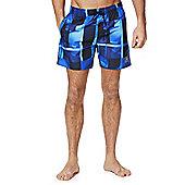 Speedo Checked Swim Shorts - Blue