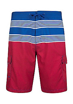 Ocean Mens Striped Boardshorts - Blue