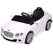 Licensed 12V Bentley Ride On Car White