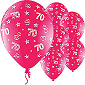 11' Birthday Perfection 70 Fuchsia (25pk)