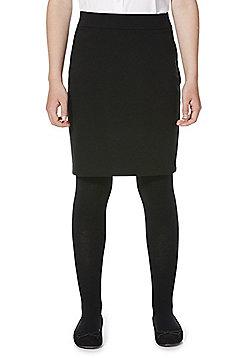 F&F School Jersey Tube Skirt - Black