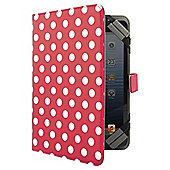 "Tesco Universal Tablet Case 7 to 8""(for Kindle Fire/HD, iPad Mini, Samsung Tab) - Red Dotty"