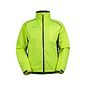 Mens Adrenaline Iso-Viz Cycling Running High Visibility Jacket Coat - Yellow