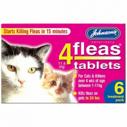 Johnsons 4Fleas Cat Flea Tablets (6 Pk)