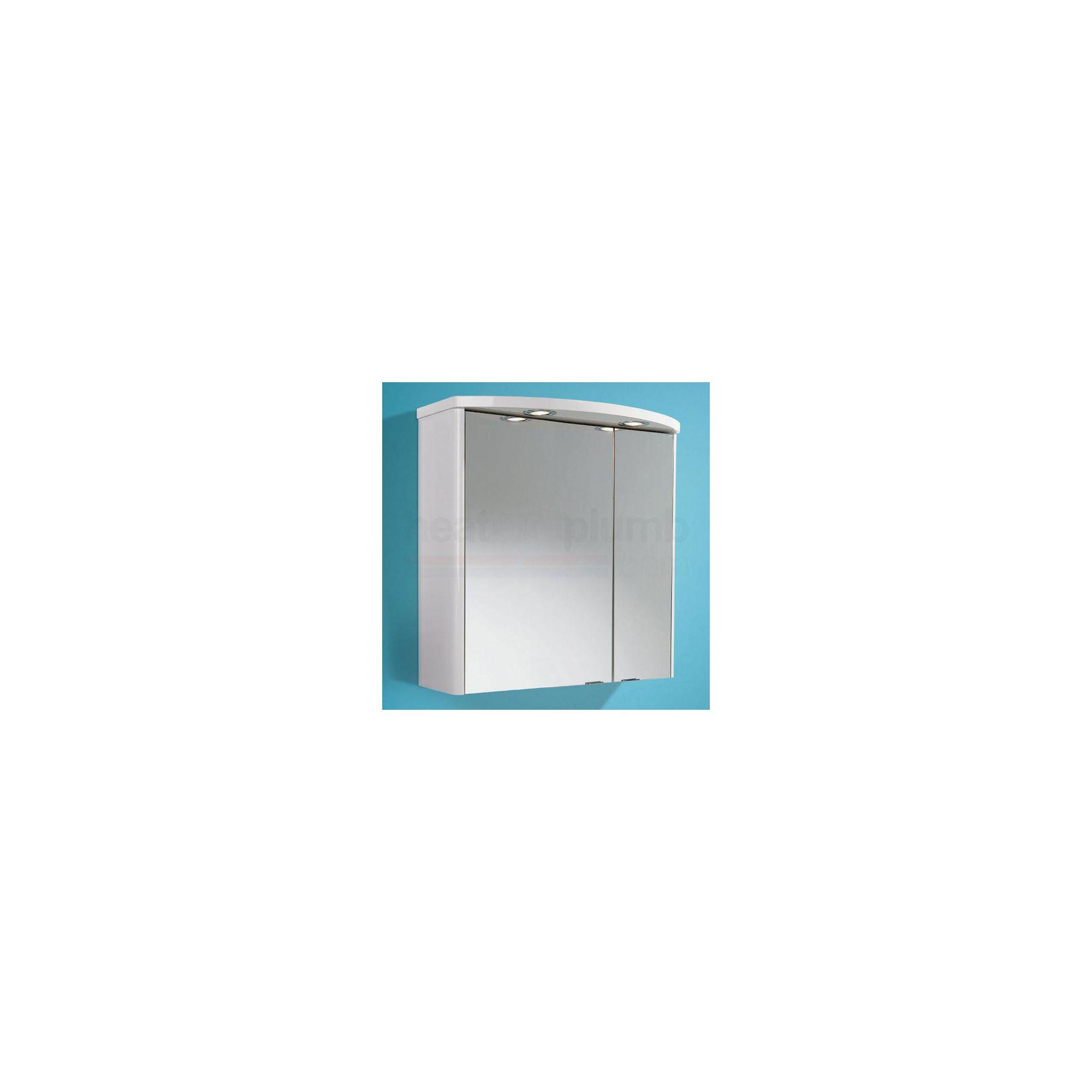 HiB Ambiente Illuminated Bathroom Cabinet 615mm High x 600mm Wide x 180/290mm Deep