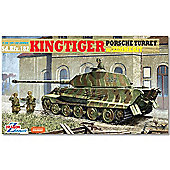 Dragon 6302 King Tiger Porsche Turret W/Zimmerit Model Kit 1:35