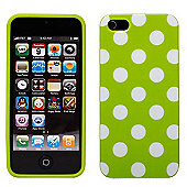 Green & White Polka Dot Hard Case for iPhone 5