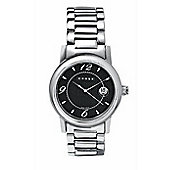 """Cross Chicago Men's Round, all stainless steel/black face watch"""