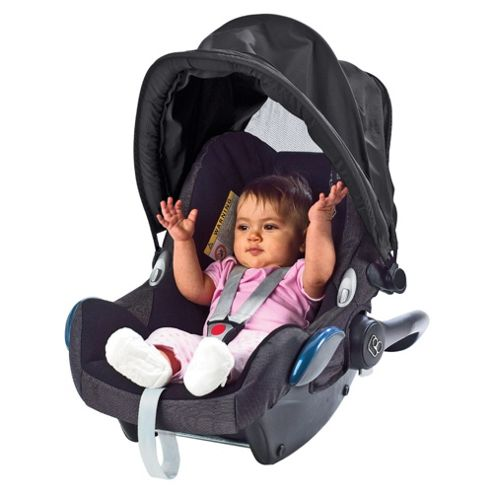 Content & Calm Protecti Shade Car Seat/Pushchair Shade & Mesh, Black