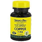 Nature's Plus Copper 90 Tablets 3mg