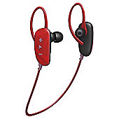 Jam Transit Fusion Wireless/Bluetooth Earbuds, Red