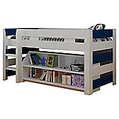 Home Essence Lollipop Mid Sleeper Bed - White / Navy