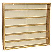 Techstyle 6 Shelf Glass Wall Display Unit - Oak