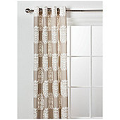 Tesco Nouveau Lined Eyelet Curtain 64X54 Natural.
