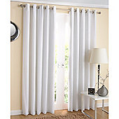 Enhanced Living Santiago Eyelet White Curtains 117X137cm