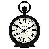Jones City Pocket Watch Alarm Clock, Black