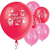 "Happy Valentines Cupcake Balloons - 12"" Latex (8pk)"