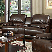 Sofa Source Carlos Bonded Leather 2 Seater Reclining Sofa - Brown