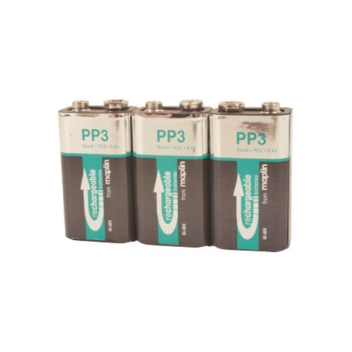 3 Rechargeable 9V Battery NiMh 200Mah Value Pack