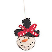 Ian Snow Smiley Snowman Ornament