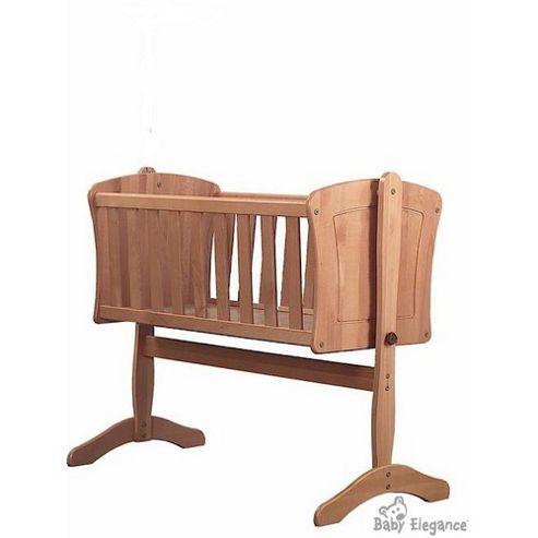 Baby Elegance Anna Swing Crib - Beech