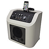 Kitsound Kingston Portable Wireless PA System with Lightning Dock, White
