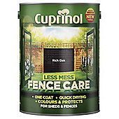 Cuprinol Less Mess Shed & Fence Care, Rich Oak, 5L