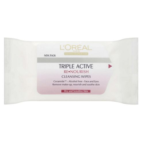 L'Oréal Triple Active ReNourish Cleansing Wipes