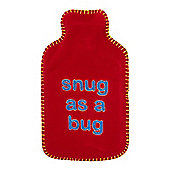 Linea Snug As A Bug Hot Water Bottle In Brown New