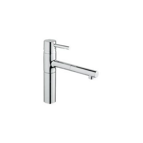 Grohe Essence Mono Sink Mixer Tap, Pull-Out Spout, Single Handle, Chrome
