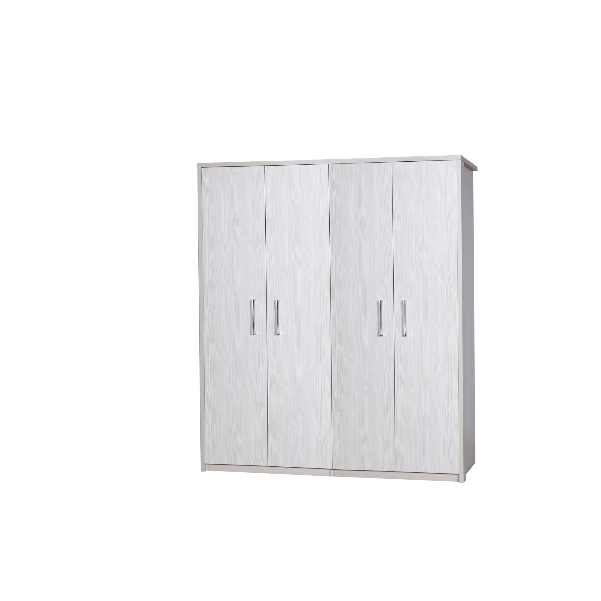 Alto Furniture Avola 4 Door Wardrobe - Cream Carcass With White Avola at Tescos Direct