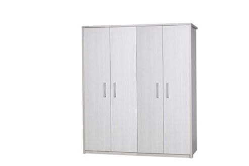 Alto Furniture Avola 4 Door Wardrobe - Cream Carcass With White Avola