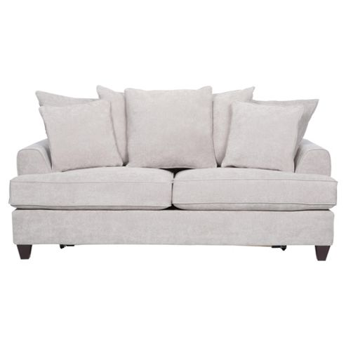 Kensington Fabric Scatter Back Sofa Bed Light Grey