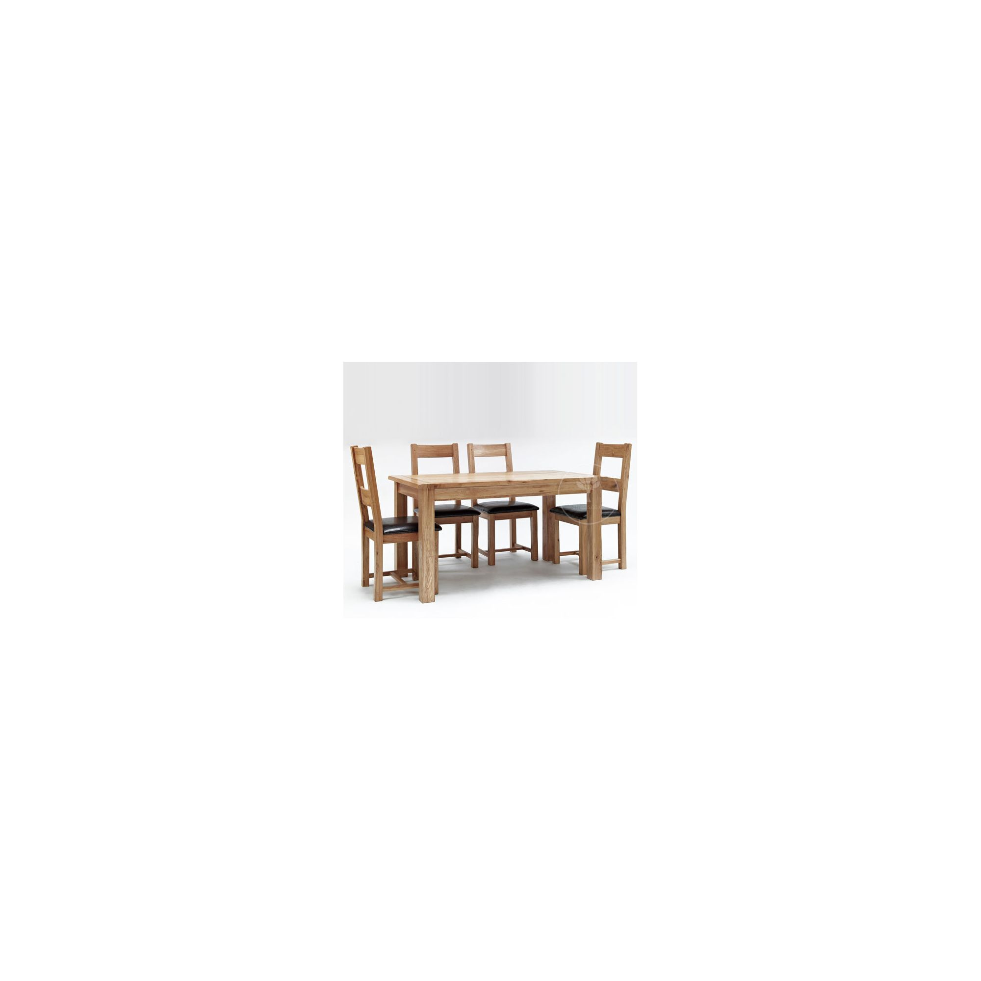 Ametis Westbury Reclaimed Oak 5 Piece Leather Dining Set at Tesco Direct