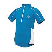 Dare 2b 'Race Away' Kid's Cycling Jersey - Blue - Blue